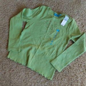 Green Sparkle long sleeve girls shirt